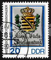 Postage stamp GDR 1990 Royal Saxon Letter Collection
