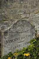 France, Vincent Van Gogh tomb in Auvers sur Oise