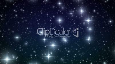 Stars falling like snowflakes. HD 1080. Looped animation.