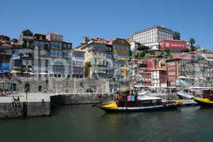 Portugal, view of Porto from Douro river