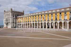 Portugal, the Praca do Comercio in Lisbon