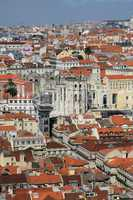 Portugal, Lisbon view from Saint George castle