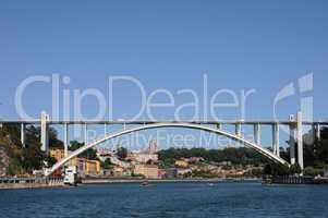 Portugal, view of Porto from Douro river