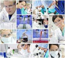 Scientific Research Team Men & Women in a Laboratory