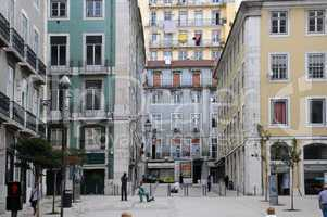 Portugal, old historical building in the center of Lisbon