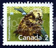 Postage stamp Canada 1988 Prickly Porcupine, Animal
