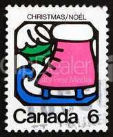 Postage stamp Canada 1973 Ice Skate, Christmas