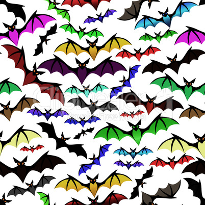 Halloween bat seamless pattern
