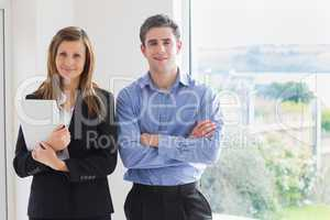 Estate agent and client