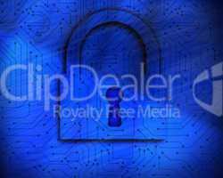Lock on digital background