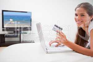 Woman just booked flight online