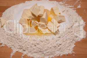 Margarine Zucker Mehl