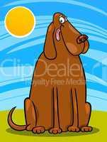 big brown dog cartoon illustration