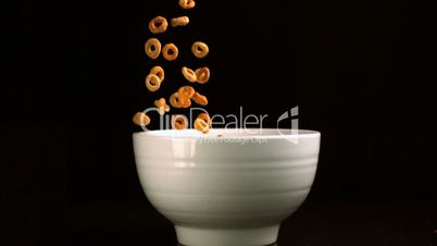 Loop cereal being poured into bowl