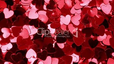 Red heart shaped confetti