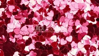 Pink heart shaped confetti