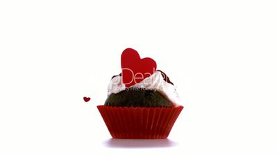 Valentines cupcakes with confetti