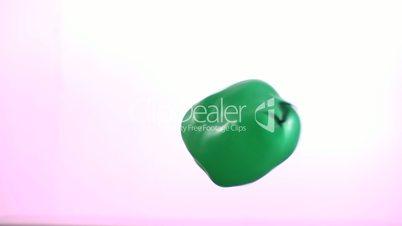 Green bouncing water balloon
