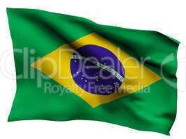 Brazil flag satin texture