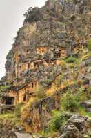 Lycian Rock Tomb, HDR photography