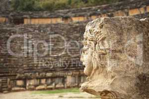antique stone mask in Myra