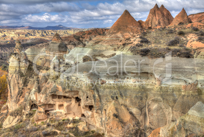 Famous cave city  Cappadocia at Turkey, HDR photography