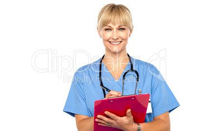 Shot of a cheerful doctor doing her rounds