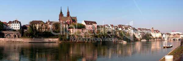 Skyline of Basel in Switzerland