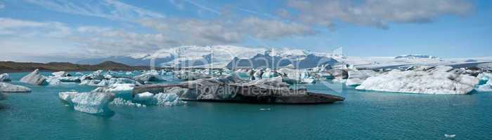 Glacier lagoon Joekulsarlon on Icel