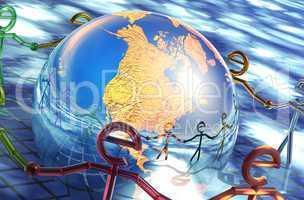 E-ring around the world