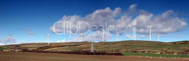 Scotland. Busbiemuir Windfarm