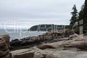 Shoreline near Otter Cliffs, Acadia