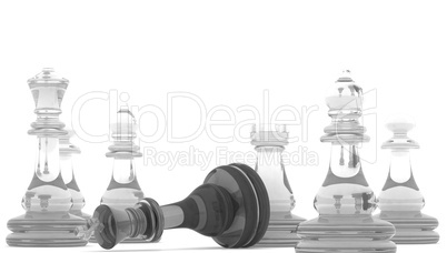 Chess pieces with clipping path , 3