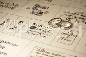 Wedding rings love sayings
