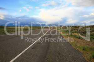 Idaho road scene of Lost River Mtns