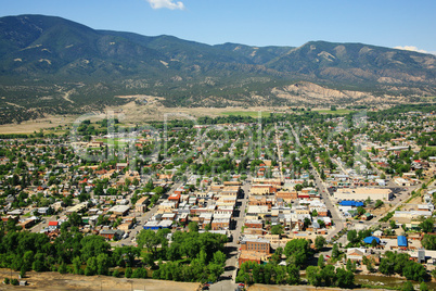 Aerial view of Salida Colorado