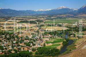 Arkansas River valley at Salida CO