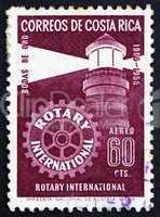 Postage stamp Costa Rica 1956 Lighthouse, Rotary International