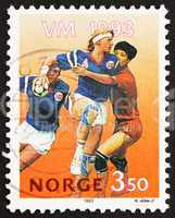 Postage stamp Norway 1993 Team Handball players