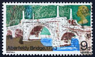 Postage stamp GB 1968 Aberfeldy Bridge, Perthshire