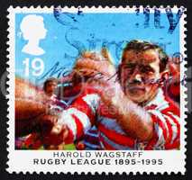 Postage stamp GB 1995 Harold Wagstaff, rugby player