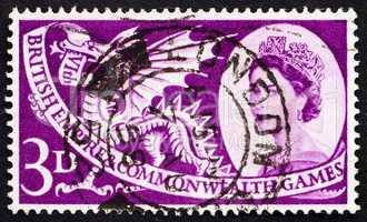 Postage stamp GB 1958 Welsh Dragon