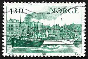 Postage stamp Norway 1977 Norwegian Ships