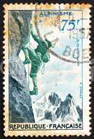 Postage stamp France 1956 Mountain Climbing