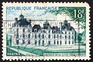 Postage stamp France 1954 Cheverny Chateau