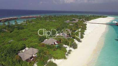 aerial tropical island resort