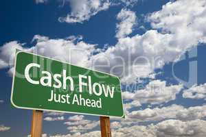Cash Flow Green Road Sign