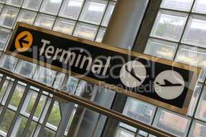 Terminal eines Flughafens