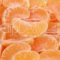 Geschälte Mandarinen