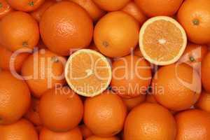 Hintergrund aus Orangen